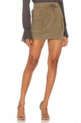 Bella Dahl PATCH POCKET MINI SKIRT – olive green skirts
