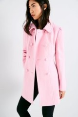 JACK WILLS BESSEMER WOOL COAT / rose-pink double breasted coats