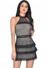 AX PARIS BLACK CROCHET OVERLAY DRESS – party dresses