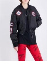 BOY LONDON Patch appliqué shell bomber jacket