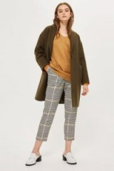 TOPSHOP Bright Checked Peg Trousers – large checks – check prints