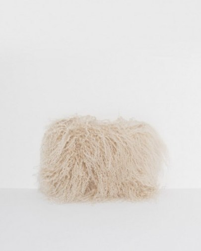 Brother Vellies Wallflower Pouch ~ large shaggy clutch bags - flipped