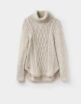 JOULES CABELL CABLE KNIT JUMPER / chunky high neck jumpers
