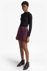 French Connection CANTERBURY CORD SKIRT | purple corduroy mini skirts