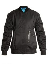 ELLERY Cars and Races gathered-sleeved bomber jacket