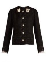 DOLCE & GABBANA Cat-button wool-blend tweed jacket ~ Italian jackets
