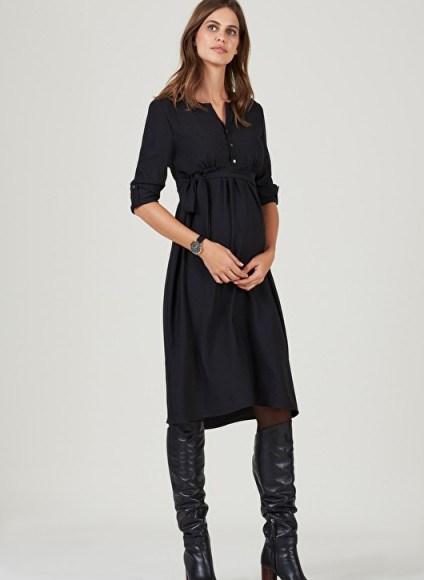 Isabella Oliver CATRIONA SHIFT MATERNITY DRESS – pregnancy dresses - flipped