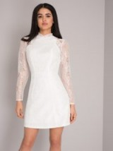 CHI CHI ELLA DRESS – white lace mini dresses – party fashion