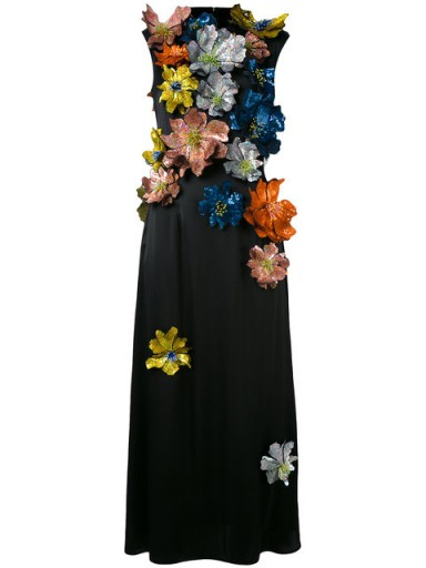 CHRISTOPHER KANE sleeveless flower embellished dress / floral dresses