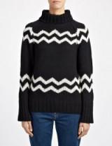 JOSEPH Chunky Intarsia High Neck Sweater ~ stylish winter knitwear