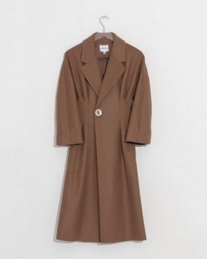 Colovos Cashmere Camel Coat - flipped