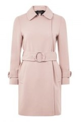 Topshop – Daisy Crepe Duster Coat ~ pink belted coats