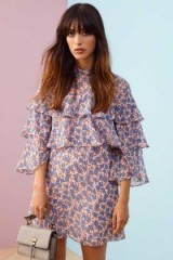 REBECCA MINKOFF DARCY DRESS – ruffled pink and blue floral dresses –