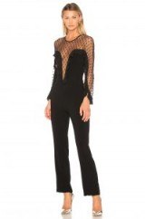 DELFI KEIRA JUMPSUIT ~ black semi sheer jumpsuits