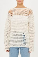 TOPSHOP Distressed Knitted Jumper by Boutique – sheer jumpers