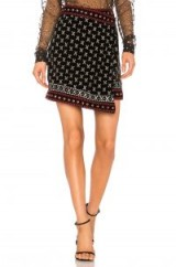 Dodo Bar Or BLAIR SKIRT – black and silver wrap skirts