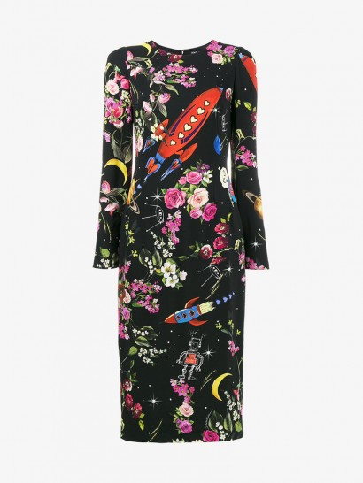 Dolce & Gabbana Rocket And Floral Midi-Dress