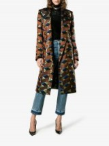 Dries Van Noten Geometric Metallic Print Coat ~ printed coats