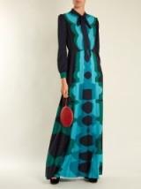 MARY KATRANTZOU Duritz long-sleeved crepe de Chine gown