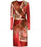 ETRO Printed silk-blend dress – red mixed print dresses – animal prints