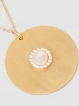 EYE M BY ILEANA MAKRI Sun Gold-Plated Opal And Sapphire Necklace | small round pendants | jewellery