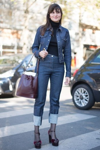 This is proof that when done properly, double denim does work! - flipped