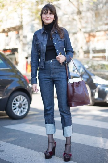 This is proof that when done properly, double denim does work!