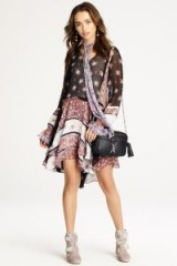 Rebecca Minkoff FIONA DRESS | mixed floral print dresses | asymmetric hemline