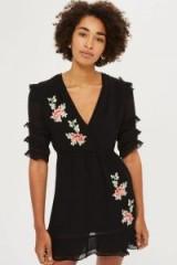 Topshop Floral Embroidered Tea Dress | LBD