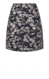 WAREHOUSE FLORAL JACQUARD PELMET SKIRT ~ flower printed mini skirts