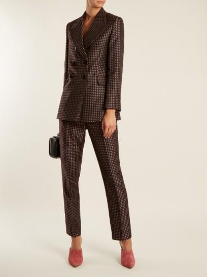 ALEXACHUNG Floral-jacquard straight-leg trousers