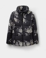 JOULES FLORIAN PADDED JACKET / black floral jackets