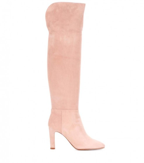 GABRIELA HEARST Linda suede over-the-knee boots / long light pink boots