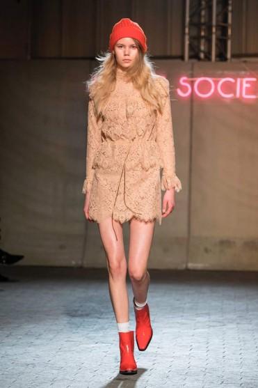 GANNI Jerome lace minidress/ floral lace mini dresses