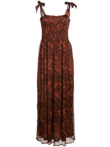 GANNI rose printed maxi dress - flipped