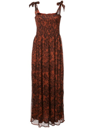 GANNI rose printed maxi dress