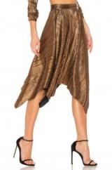 House of Harlow 1960 X REVOLVE PENNY SKIRT – metallic bronze asymmetric skirts