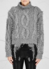 FILLES À PAPA Ivy silver chunky-knit jumper ~ metallic fleck jumpers