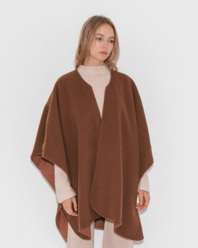 Jesse Kamm Reverisble Ama Warming Cape ~ camel capes - flipped
