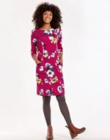 JOULES JODY PRINTED JERSEY DRESS / pink floral day dresses
