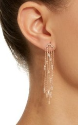 Suzanne Kalan 18K Rose Gold Diamond Chandelier Earrings | statement jewellery