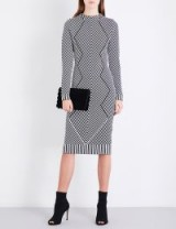 KAREN MILLEN Chevron knitted dress