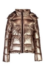 boohoo Karina Metallic Padded Coat ~ pewter winter jackets