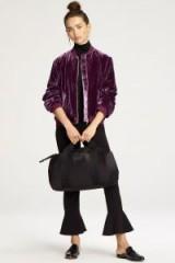 Rebecca Minkoff KAYA JACKET | purple velvet bomber jackets