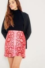 KYE Pink Leopard Print Mini Skirt