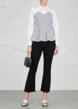 VIVETTA La Canea striped poplin shirt | peplum shirts
