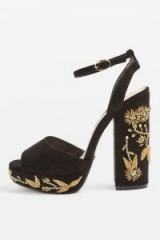 Topshop Lavish Beaded Platform Sandals | luxe style platforms