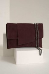 MINT VELVET LEA BORDEAUX SIMPLE CLUTCH