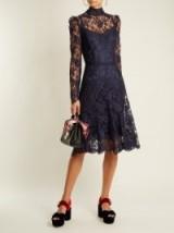 DOLCE & GABBANA Long-sleeved Cordonetto-lace dress