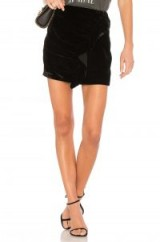 Lovers + Friends X REVOLVE LISA SKIRT – black ruffled mini skirts